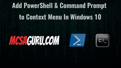 Add PowerShell & Command Prompt to Context Menu In Windows 10