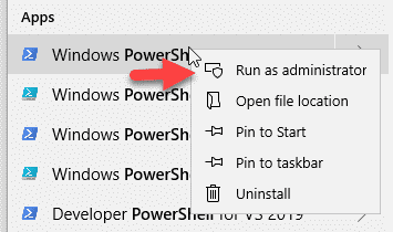 Open PowerShell-As-Administrator