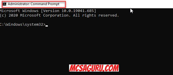 Opening Command Prompt As Admin