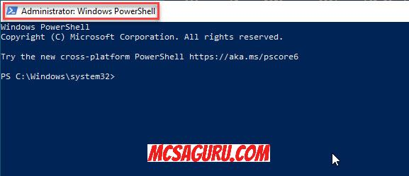 Powershell Running As Admin